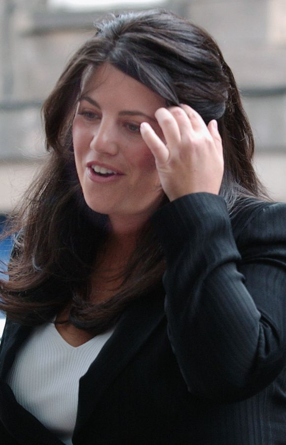Monica Lewinsky at the International Exhibition and Conference Centre in Edinburgh