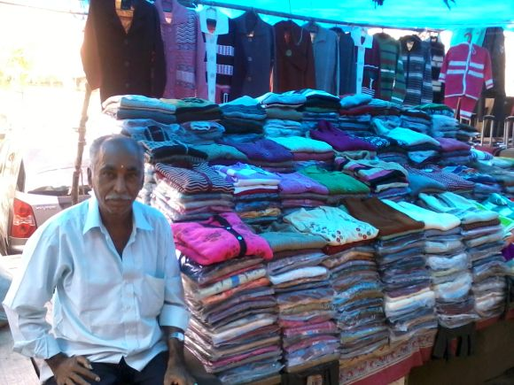 Madan Lal has been selling woolens for 40 years