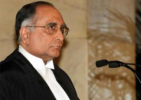 Outgoing Chief Justice S H Kapadia