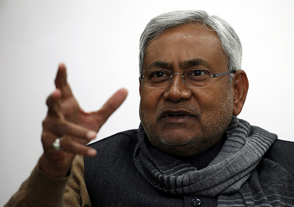 Bihar's chief minister and leader of Janata Dal United party Nitish Kumar