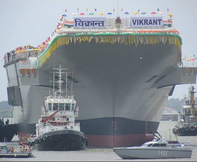 INS Vikrant was launched on August 12
