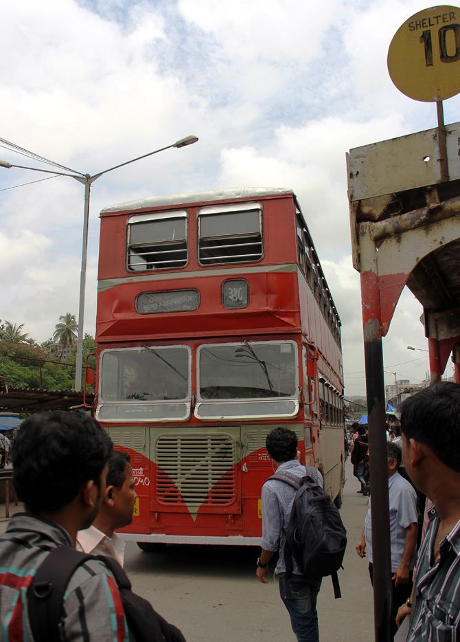 Bus 310 at the Kurla bus stand