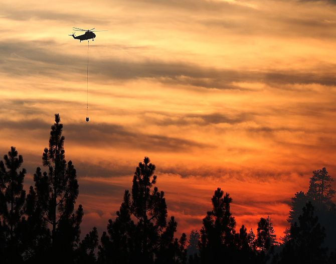 This GIANT wildfire, seen from space, rages 10 days on