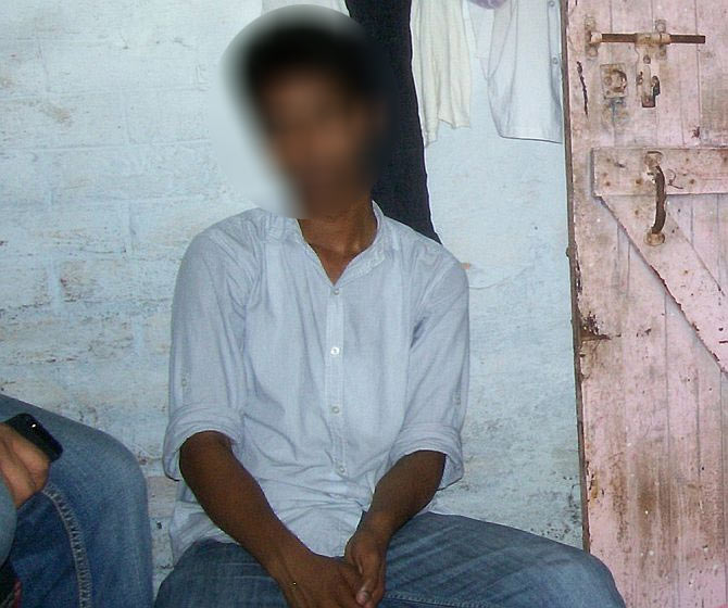 The victim's borther Gaurav Singh at the family's modest home in Delhi