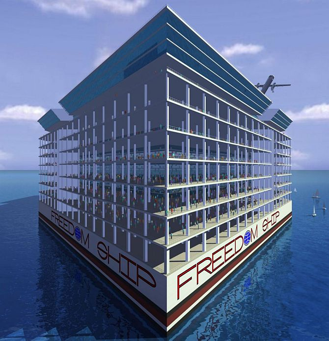 Soon, a floating city that docks from port to port