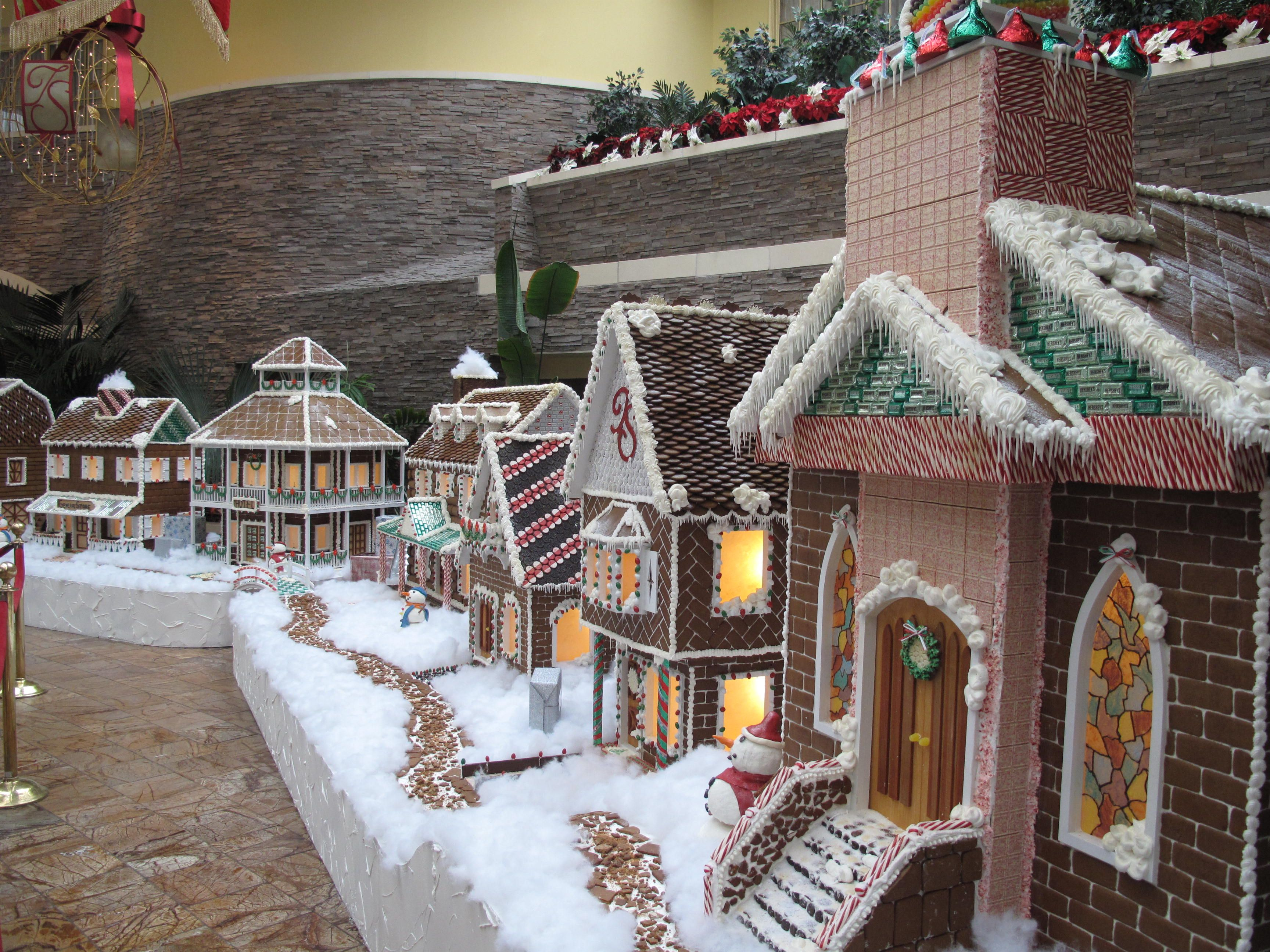 The record-breaking 'sugary' gingerbread village