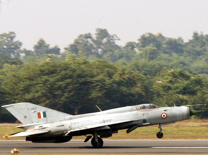 An Indian Air Force MiG-21