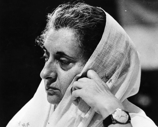 Then Indian Prime Minister Indira Gandhi.