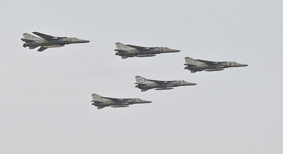 MIG-29 of Indian Air Force during the exercise