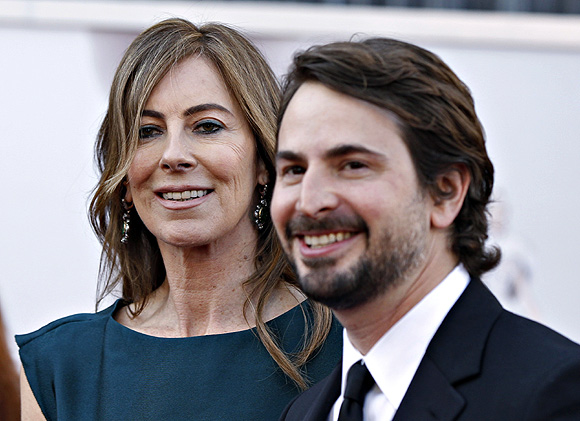 Director Kathryn Bigelow and screenwriter Mark Boal of Zero Dark Thirty, which was nominated for Best Picture Oscar, arrive at the 85th Academy Awards in Hollywood, California. Both Bigelow and Boal are also producers for the film