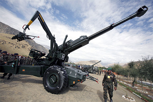 The Bofors howitzer gun India imported from Sweden.