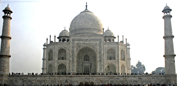 The Taj Mahal, the lasting symbol of Mughal architectural glory.