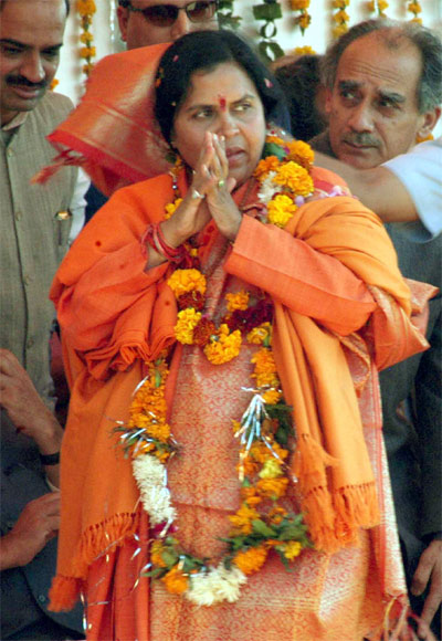 Uma Bharti is on the lookout for her own room at the BJP headquarters.