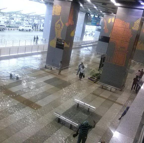 The sight at Delhi airport's T3 terminal