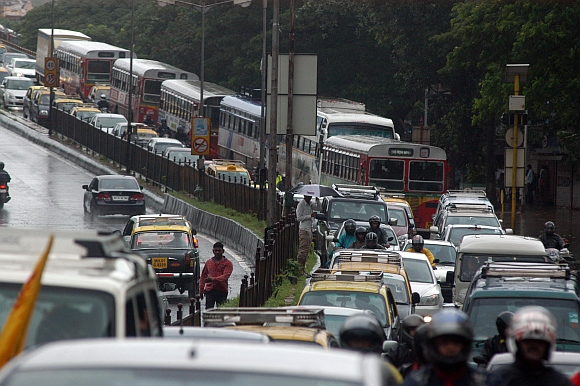 The traffic congestion at Dadar east