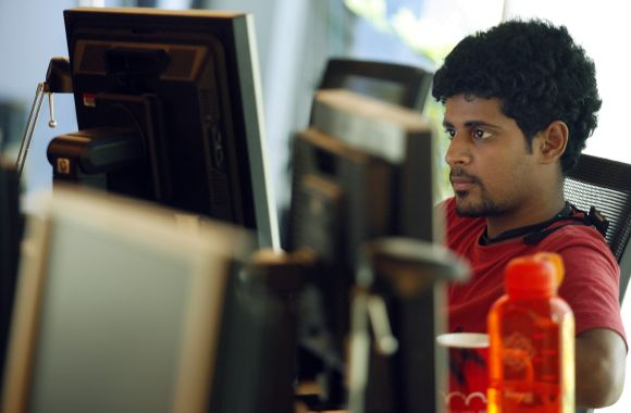 A person uses his computer in Mumbai (image for representational purpose only)