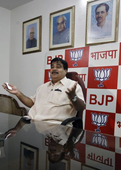 The popularity of Nitin Gadkari