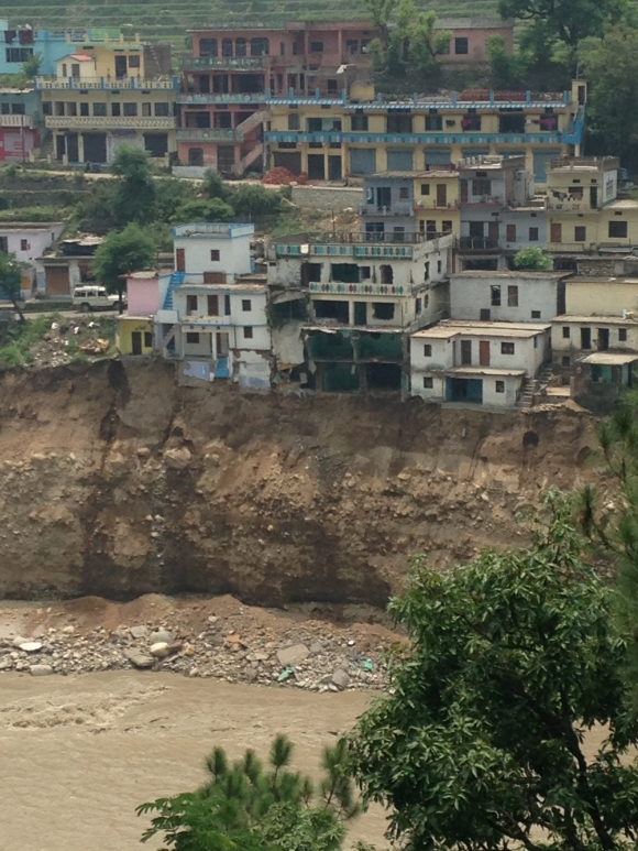 Buildings destroyed in Tilwara, Uttarakhand