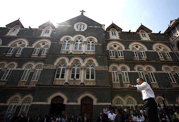 Mumbai's famed St Xavier's college is founded by Jesuits and named after the patron saint for Catholic missions, St Francis Xavier. US President Obama held a townhall for students here during his visit to India.