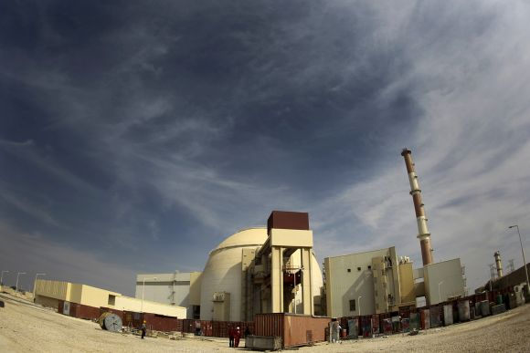 A general view of the Bushehr nuclear power plant in Iran.