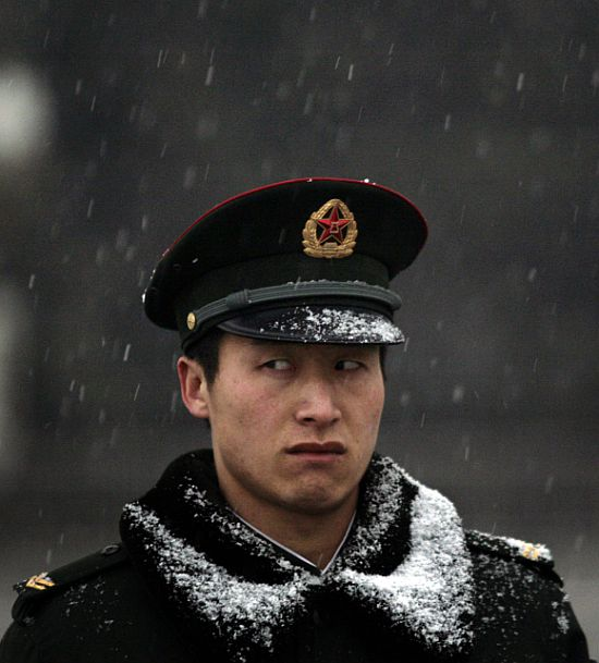 A Chinese People's Liberation Army soldier