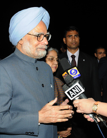 PM with his wife Gursharan Kaur in Tokyo