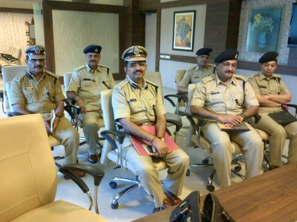 The Surat Police team that implemented the project. Additional CP V S Jobalia is seated left (front row)
