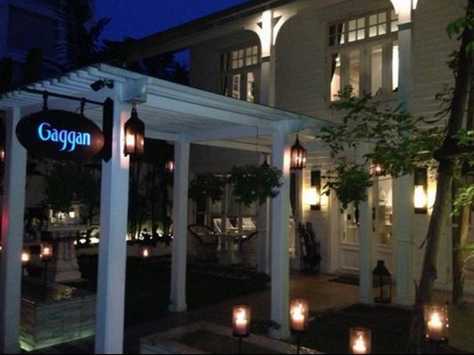 A view of the Gaggan restaurant in Bangkok