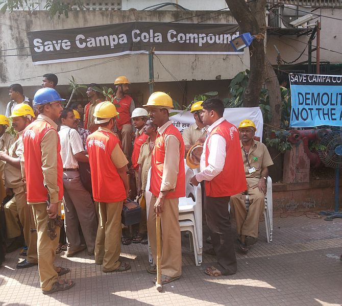 SC stays demolishing of illegal flats in Campa Cola society