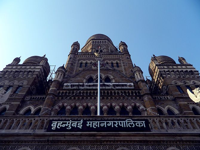 The headquarters of the Municipal Corporation of Greater Mumbai.