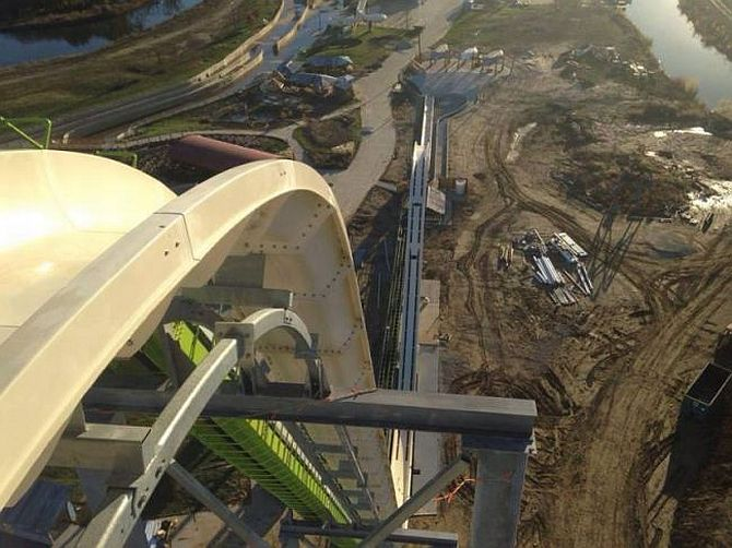 Once completed the waterslide at Schlitterbahn Park will be nearly 140ft tall