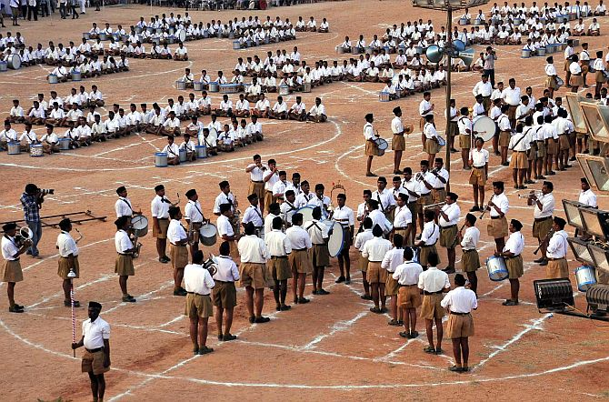 An RSS camp in Andhra Pradesh