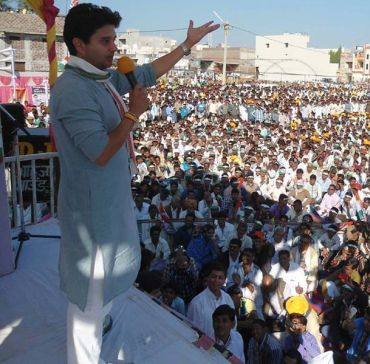 On campaign trail with 'Shrimant' Scindia