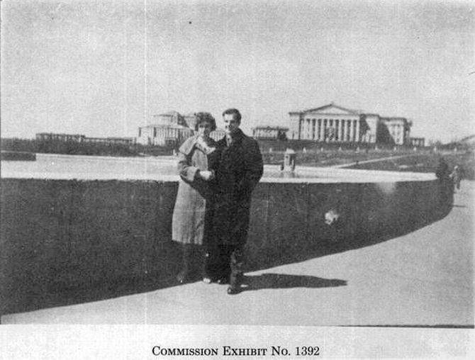 Lee Harvey Oswald and his Russian wife, Marina, in Minsk.