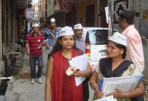 Delhi poll diary: At your service, Aam Aadmi Party