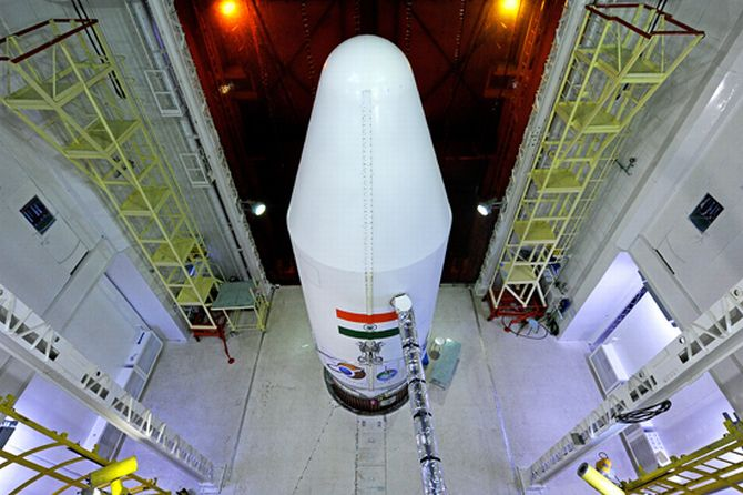 PSLV-C25 with heat shield closed