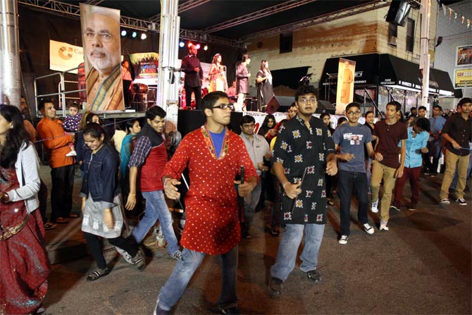 Dancing the night away with Narendra Modi