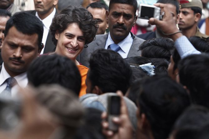 Priyanka Gandhi meets supporters in Rae Bareli