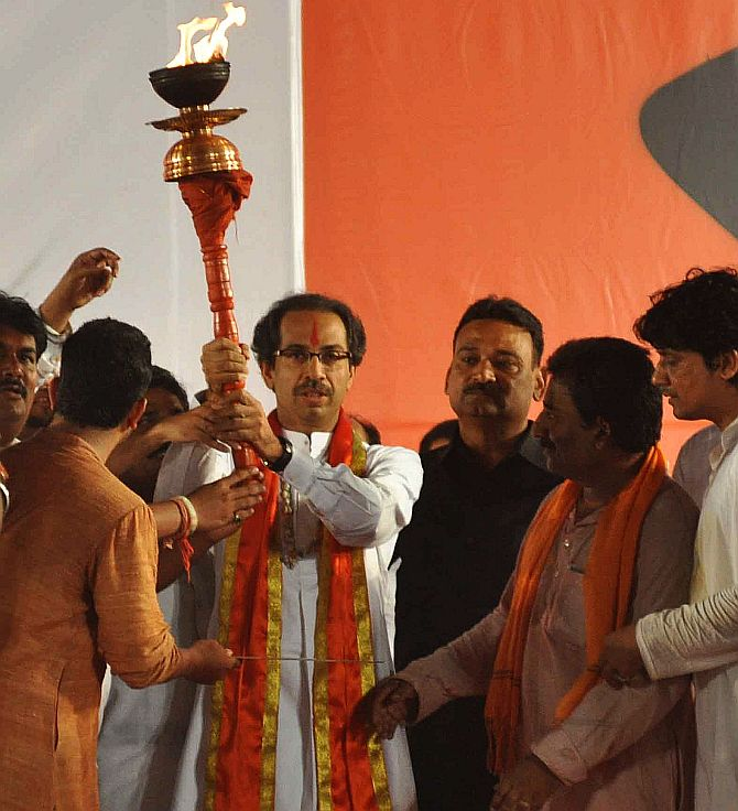 Shiv Sena leader Uddhav Thackeray