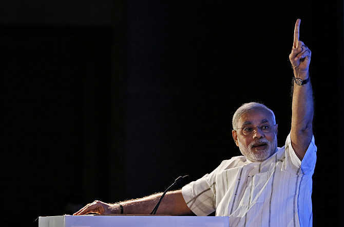 Narendra Modi in New Delhi. He has sent in his right-hand man to seal UP for him.