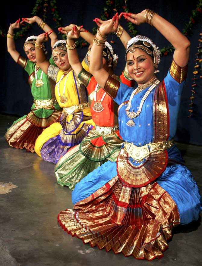 Bharatanatayam dancers in Chandigarh.