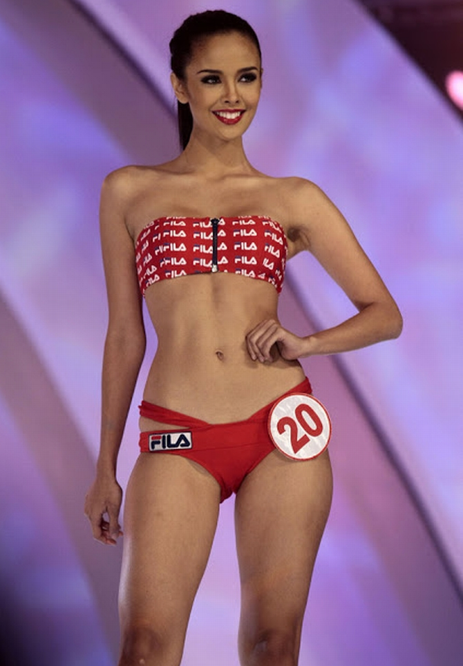 Megan Young during the Miss Philippines contest
