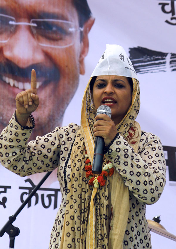 Shazia Ilmi, the AAP candidate from Ghaziabad, is pitted against General V K Singh of the BJP and Raj Babbar of the Congress.
