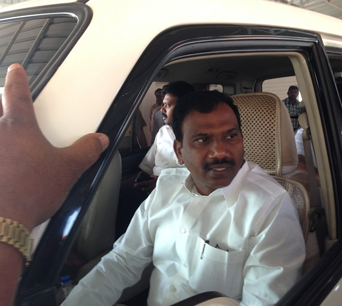 Been falsely accused of making offensive remarks: A Raja to EC