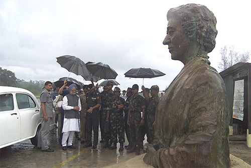 Then prime minister Dr Manmohan Singh at Indira Point on the Great Nicobar island.