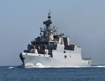 Stealth corvette INS Kamorta enters Indian Navy