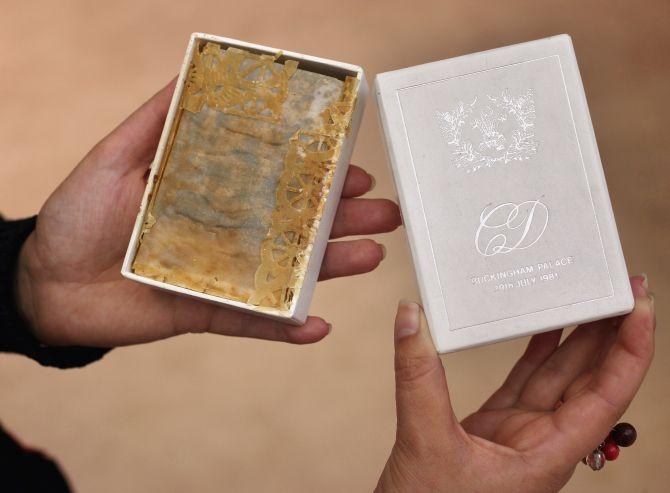 Slice Of History Princess Diana S Wedding Cake Sells For 1 375