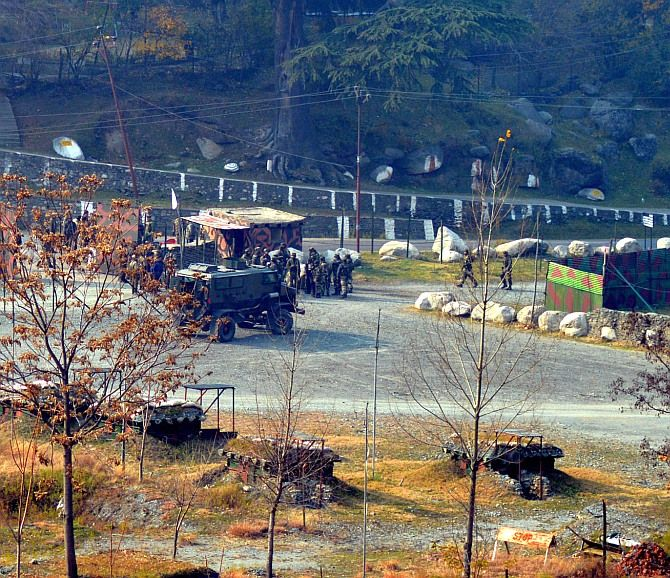 The army camp in Uri that was attacked