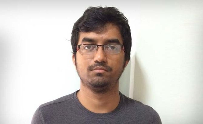 Pro-Islamic State Twitter account handler Mehdi Masroor Biswas, who was arrested in Bengaluru in December 2014.