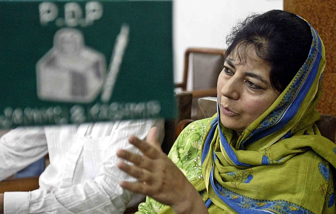 Mufti shifted to her residence, detention continues